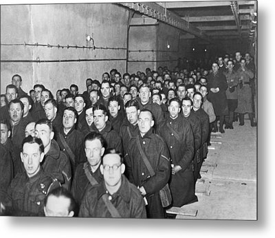Mass On The Maginot Line Metal Print by Underwood Archives