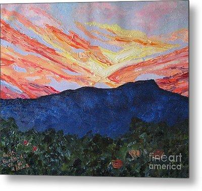 Massanutten Peak Sunrise Metal Print by Judith Espinoza