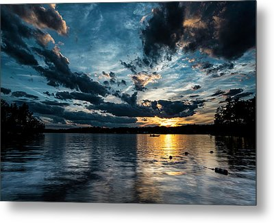 Masscupic Lake Sunset Metal Print