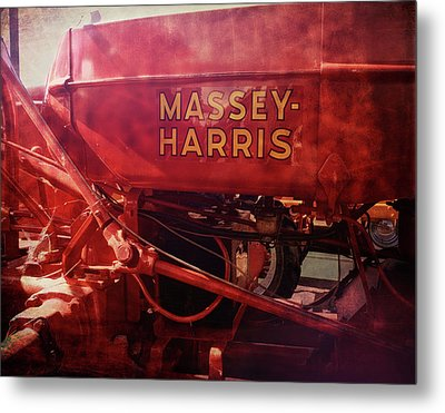 Metal Print featuring the photograph Massey Harris Vintage Tractor by Ann Powell