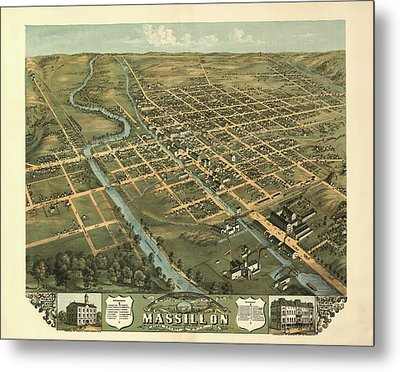 Massillon Ohio 1870 Metal Print