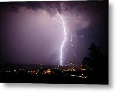 Metal Print featuring the photograph Massive Lightning Storm by Ron Chilston