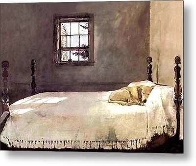 Metal Print featuring the painting Master Bedroom  by Andrew Wyeth