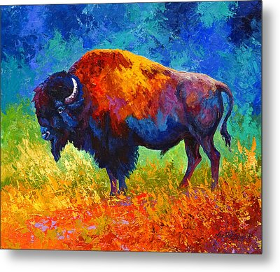 Master Of His Herd Metal Print by Marion Rose