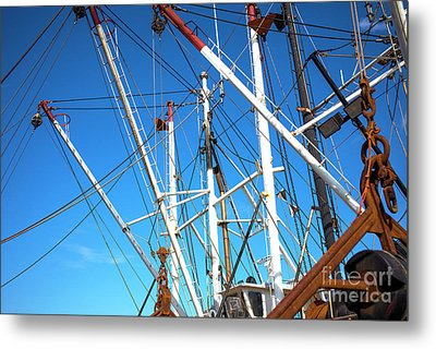Metal Print featuring the photograph Masts At Barnegat Bay by John Rizzuto