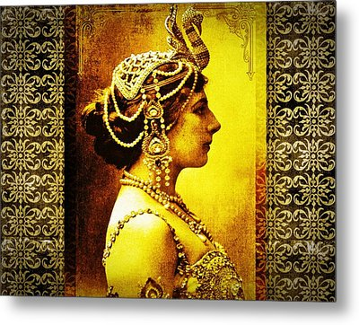 Mata Hari Metal Print by Mary Morawska