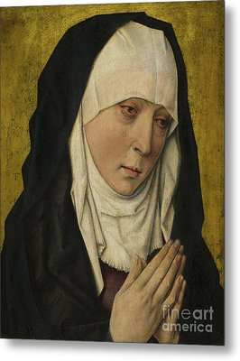 Mater Dolorosa  Sorrowing Virgin Metal Print