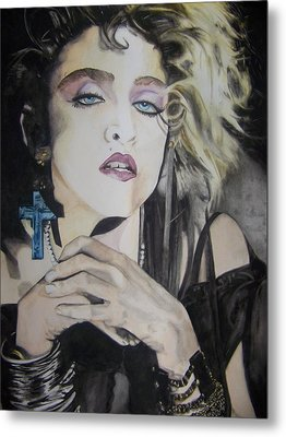 Metal Print featuring the painting Material Girl by Lance Gebhardt