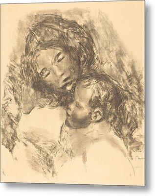 Maternity -maternite Metal Print by Auguste Renoir