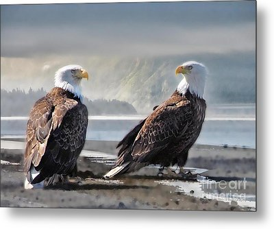Mates For Life Metal Print by Dyle   Warren