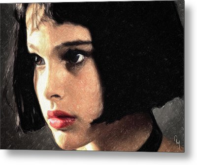 Metal Print featuring the painting Mathilda by Taylan Apukovska