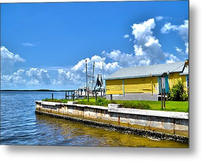 Metal Print featuring the photograph Matlacha Florida Waterway by Timothy Lowry
