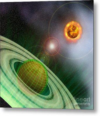 Matrix Planet Metal Print