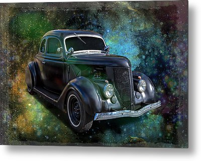 Matt Black Coupe Metal Print by Keith Hawley