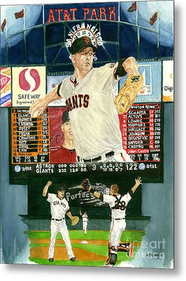 Matt Cain Perfect Night Metal Print by George  Brooks