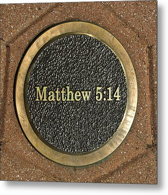 Metal Print featuring the photograph Matthew Bronze by Michael Flood