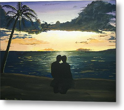 Maui Beach Sunset Metal Print by Norm Starks