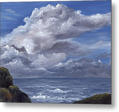 Metal Print featuring the painting Maui Clouds by Darice Machel McGuire