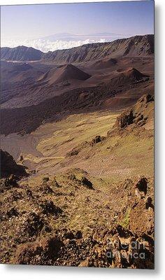 Maui, Haleakala Crater Metal Print by Mary Van de Ven - Printscapes