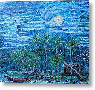 Maui Pearl Moon Metal Print by Podge Elvenstar