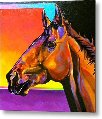 Metal Print featuring the painting Maurice by Bob Coonts