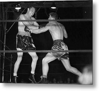 Max Baer And Lou Nova Boxing Metal Print by Underwood Archives