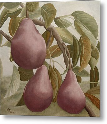 Max Red Bartlett Pears Metal Print by Angeles M Pomata