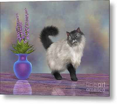 Max The House Cat Metal Print by Corey Ford