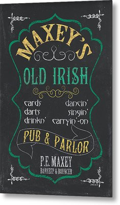 Maxey's Old Irish Pub Metal Print by Debbie DeWitt