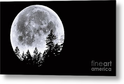 May 4 Moon Set Metal Print