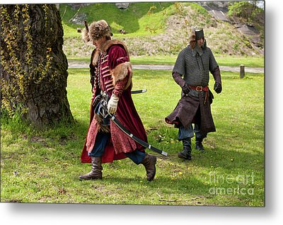 May Day Picnic Show In Janowiec Castle Metal Print