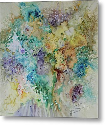 Metal Print featuring the painting May Flowers by Joanne Smoley