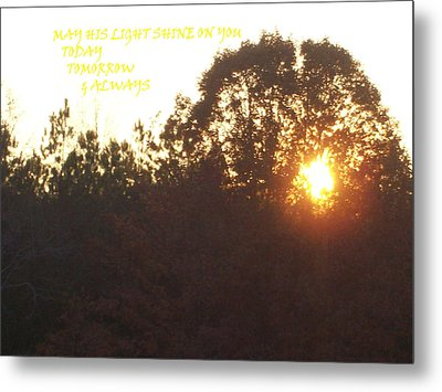 May His Light Shine On You Metal Print by Robin Coaker