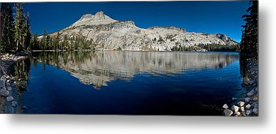 May Lake Panorama Metal Print by Greg Nyquist