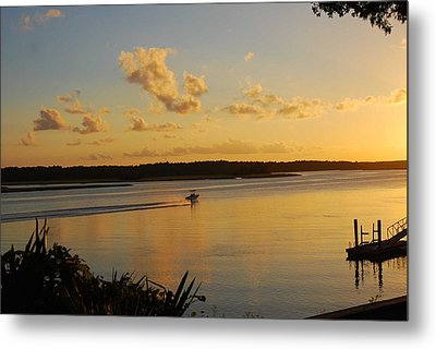 Metal Print featuring the photograph May River by Margaret Palmer
