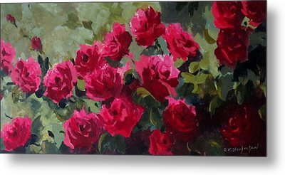 May Roses Metal Print by Sandra Strohschein