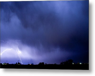 May Showers 3 In Color - Lightning Thunderstorm 5-10-2011 Boulde Metal Print by James BO  Insogna