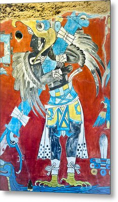 Mayan Fresco II Metal Print