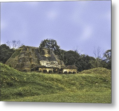 Mayan Ruins In Belize Metal Print