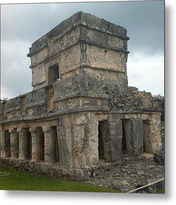 Mayan Stone Homes  Metal Print