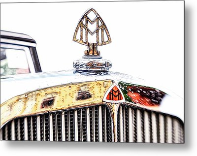 Maybach 12 Cyl. Hood Ornament Metal Print