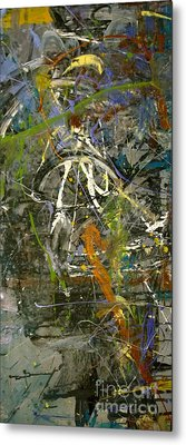Metal Print featuring the painting 'maybe Guitar' Or Abstract 42515 by Robert Anderson