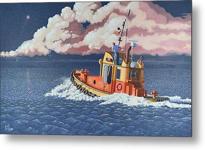 Mayday- I Require A Tug Metal Print by Gary Giacomelli