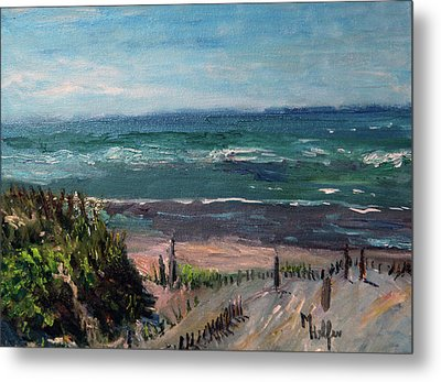 Mayflower Beach Metal Print