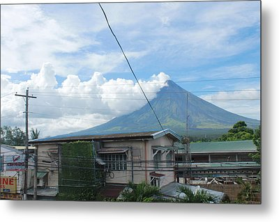 Mayon In-front Of My House Metal Print