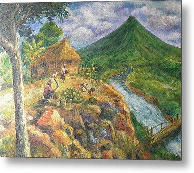 Mayon Scene #1 Metal Print by Manuel Cadag