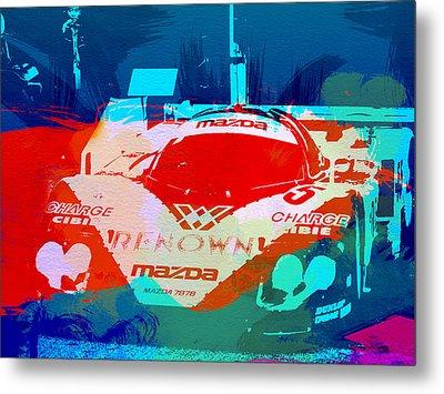 Mazda Le Mans Metal Print by Naxart Studio