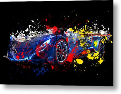 Mazda Metal Print by Mark Ashkenazi