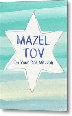 Mazel Tov On Your Bar Mitzvah-  Art By Linda Woods Metal Print by Linda Woods
