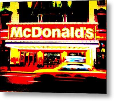 Mc Donalds On Broadway  Metal Print by Funkpix Photo Hunter